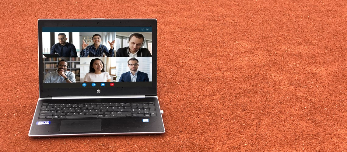 Online Meeting Laptop Gravelbaan